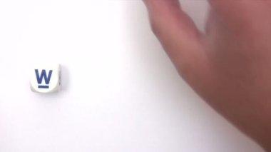 Welkom dobbelstenen — Stockvideo