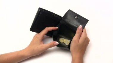 Filling an Empty Wallet — 图库视频影像