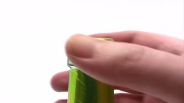 Opening a Beer Bottle Close-Up — Stock Video
