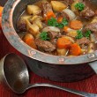 Irish stew in old copper pot — Stock Photo #12717245