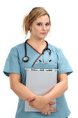 Beautiful blond nurse — Stock Photo