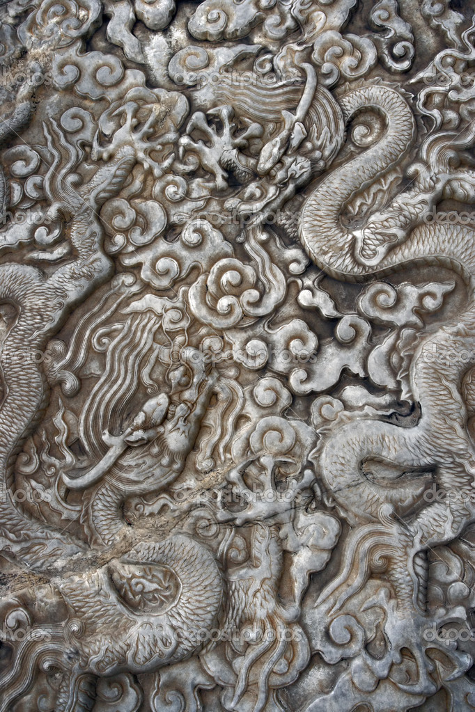 Chinese stone carving — stock photo sumners