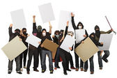 Group of protesters — Stock Photo