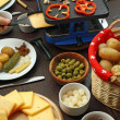 Raclette dinner — Stock Photo
