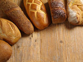 Loaves of assorted bread — Stock Photo