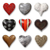 Collection of hearts — Stock Photo