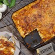 Lasagna serving - Stock Photo