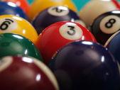 Billiard balls macro — Stock Photo