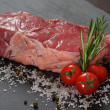 Raw sirloin steak - Stock Photo