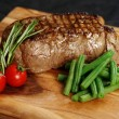 Delicious sirloin steak dinner - Stock Photo