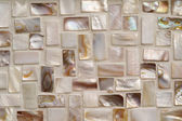 Mother of pearl mosaic tiles — Stock Photo