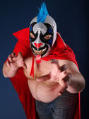 Mexican wrestling portrait — Stockfoto