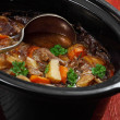 Irish stew in a slow cooker pot — Stok fotoğraf