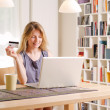 Shopping online with a credit card — Stock Photo #29309997