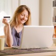 Internet shopping with a credit card — Stock Photo #29615269