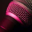 Vocal microphone in pink light — Stock Photo