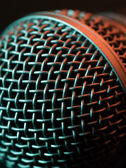 Vocal microphone macro — Stock Photo