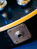 Electric guitar output jack — Stock fotografie
