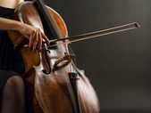 Playing the cello — Stock Photo
