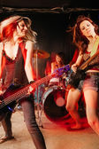 Rock and roll women — Stock Photo
