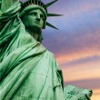 Statue of Liberty under colorful sky — Stock Photo