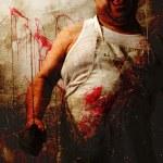 Mad butcher attack — Stock Photo #39782135