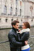 Young couple in love in the city — Stock Photo