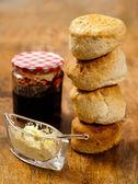 Stack of scones — Stock Photo