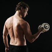 Bicep curl rear view — Stock Photo