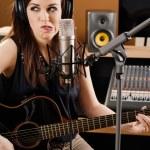 Uncertainty in the recording studio — Stock Photo