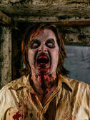 Horrible hungry zombie — Foto Stock