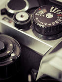 Vintage camera shutter speed knob — Stock Photo