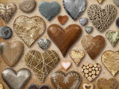 Assortment of heart shaped things — Stock Photo