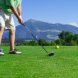 Golfer on the golf course — Stock Photo #49397189