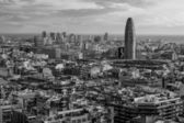 Stadsbilden i barcelona svart och vitt — Stockfoto