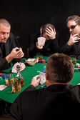 Unlucky poker players — Stock Photo