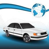 3D Vector Car — Stock Vector