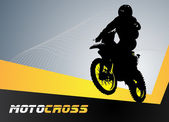 Vector motocross — Vettoriale Stock
