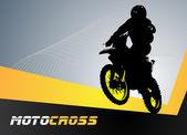 矢量摩托车越野赛 — 图库矢量图片
