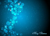 Красивый синий фон Рождество — Cтоковый вектор