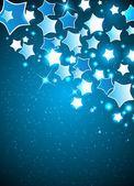 Vektor jul bakgrund med stiliserad stjärna — Stockvektor
