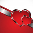 Beautiful red heart background — Vector de stock #18576393