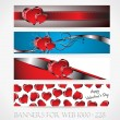 Banners for web. Love. (Vector collection9) — Stock Vector #18687835