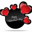 Valentine's card. Vector Illustration — Stock Vector