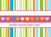 Geschenk-Karte. Happy valentine — Stockvektor