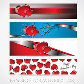 Banners for web. Love. (Vector collection9) — Stock Vector