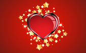 Creative red heart background — 图库矢量图片