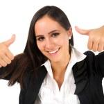 donna d'affari isolata — Foto Stock
