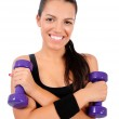 Isolated fitness woman — Stock Photo #13548407