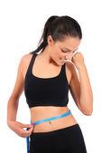 Donna fitness isolato — Foto Stock
